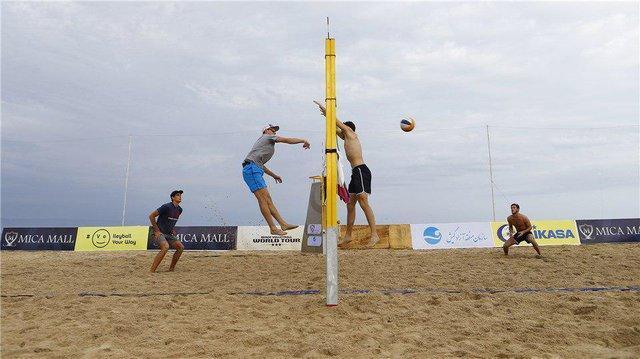 شکست والیبالیست های ساحلی ایران در تور قطر