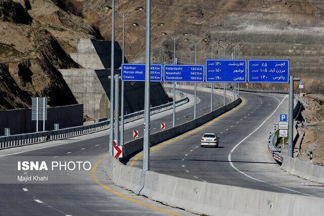 آزاد راه چالوس-مرزن آباد مسدود شد