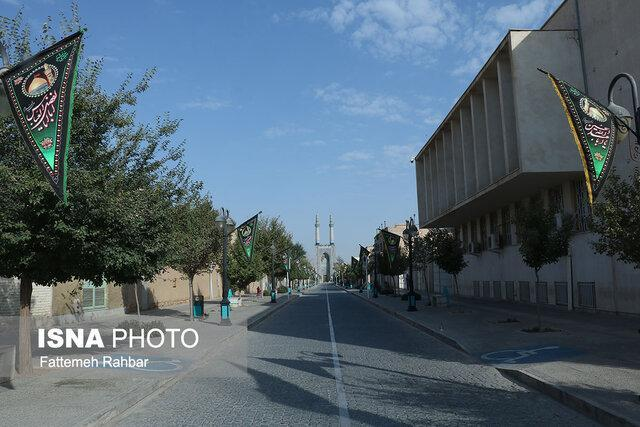 نماد میراث جهانی شهر تاریخی یزد به عزای حسین(ع) نشست