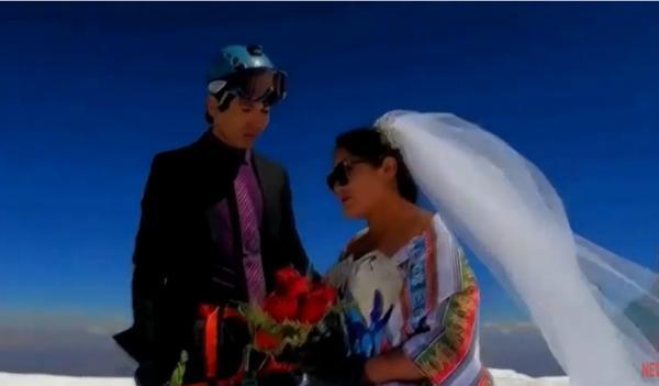 جشن ازدواج روی قله!